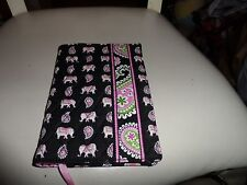 Vera Bradley paper back book cover in retired pink elephant pattern NWT