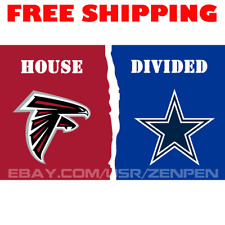 Atlanta Falcons vs Dallas Cowboys House Divided Flag Banner 3x5 ft 2019 NEW