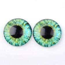 Vidrio Cabuchones-Ojos Verdes - 20 X 10mm Diámetro Redondo