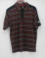 Oakley Men's Size Medium  Black White Red Polo Shirt   euc