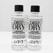 LOT 2 OPI Drip Dry Lacquer Drying Drops 104 ml 3.5oz ~ 120ml / 4oz SET # AL 717