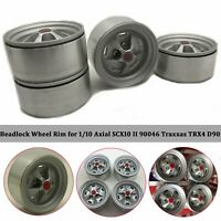 Metal Beadlock Wheel Rim for 1/10 Axial SCX10 II 90046 Traxxas TRX4 D90 RC Car