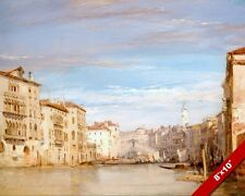 GRAND CANAL VENICE ITALY WATER PAINTING LANDSCAPE SCENE ART REAL CANVAS PRINT