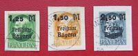 Germany Bayern 1919 Mi #174B-176B CV 130 EURO  Complete series Very Fine Used