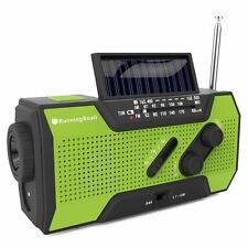 Solar Crank NOAA Weather Camping Emergency Prep Radio w/ Power Bank & Flashlight