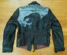 LEVI STRAUSS LVC x AERO BIRD of PREY VTG BLACK LEATHER MOTORCYCLE BIKER JACKET M