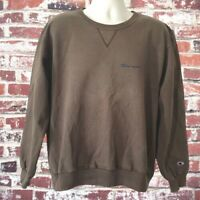 Vintage 90's Champion Made USA Small Logo Spell Out Sweatshirt Army Green Large