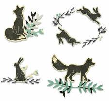 NEW Sizzix Wilderness Die Set with Stamps - Sizzix Thinlits Dies