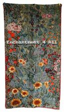 "Art Silk Oblong Scarf w/ Klimt's ""Garden of Sunflowers"""