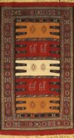 Geometric Sumak Kilim Oriental Area Rug Wool Hand-Woven Traditional Carpet 3'x6'