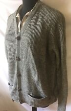 Plectrum By Ben Sherman Slate Gray Ribbed Knit Cardigan Sweater Retail $175-NWT