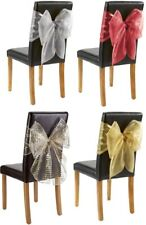 PACK OF 2 CHAIR BOWS DECORATIVE ORGANZA DECOR WEDDINGS CHRISTMAS PARTY BIRTHDAY