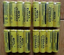 14500 3.7V  2700mah Rechargeable Batteries High Long Life HEAVY DUTY Buttoned
