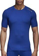 adidas AlphaSkin Sport Short Sleeve Mens Training Top - Blue