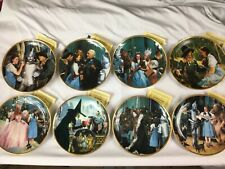 The Wizard Of Oz Commemorative Plate Set Of 8 Certificates of Authenticity