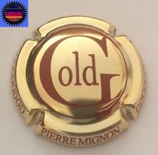 Capsule de Champagne PIERRE MIGNON Gold Plaqué  Lettre Marron !!!!