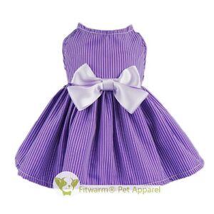 Fitwarm Purple Wedding Dog Dress Pet Clothes Girl Bowknot Apparel Skirt XXS to L