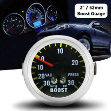 2'' 52mm Auto Car LED Carbon Fiber Face Mechanical Boost Vacuum Gauge 0-30PSI US