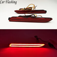 2x Car LED Rear Bumper Reflector Brake Lamp DRL For Lexus IS-F GX470 RX300 NX RC