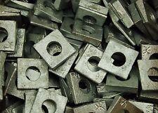 (50) Galvanized Malleable 5/8 Square Bevel Washers I-Beam Flange Wedge