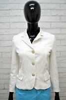 Giubbotto RALPH LAUREN Donna XS Giubbino Giacca Bianco Jacket Woman Elastica