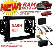 2013 - 2017 RAM DOUBLE DIN CAR STEREO INSTALLATION DASH KIT +HARNESS +ANTENNA