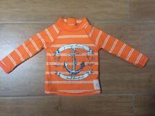 Young Hearts by Collette Dinnigan Orange Long Sleeve Swim Shirt Rashie Sz 0
