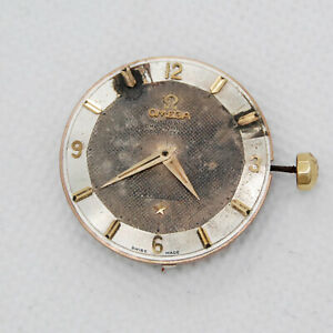 1956 Omega Constellation Movement Cal 505 Two tone Dial for Parts or Restore