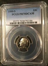 1990 S Roosevelt Dime Proof 10c PCGS PR70DCAM