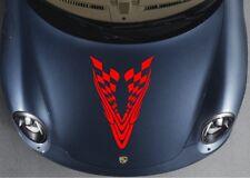 Car Tribal Grid racing sport flags  Hood Decals Vinyl sticker #CG75 F6dg