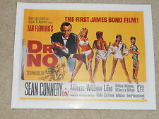"Dr No James Bond Sean Connery 1962 Mini-Poster, 8"" by 11"" Ready to Frame!"