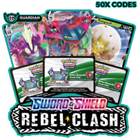 50x Sword and Shield Rebel Clash Pokemon TCGO PTCGO TCG Online Codes