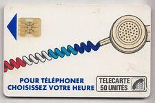 VARIETE TELECARTE CORDON BLANC .. 50U Ko58 SC4OB R° NOIR CART. BRISE 14638 C.?€