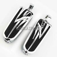 Chrome Motorcycle Foot Pegs Footrest For Harley Touring Road Glide Low Rider