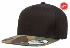 Yupoong Classic Snapback Hat Camo Visor Adjustable Cap Blank Plain Limited