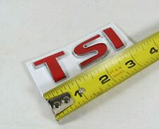 VW RED TSI EMBLEM JETTA GOLF PASSAT REAR TRUNK BADGE LETTERS sign symbol logo