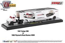 1:64 M2 Machines AUTO-HAULERS R22 = 1957 Dodge COE w/69 Road Runner THUMPER CAMS