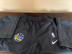 New Nike NBA Golden State Warriors Warm Up Pants Player Team Issued Sz M-Tall