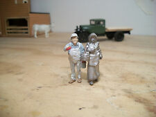 O On30 On3 Farm Girl with Eggs in a Basket 1/48 Figure Pewter Usa