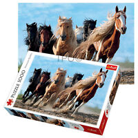 Trefl 1000 Piece Adult Large Gallopping Horses Desert Run Jigsaw Puzzle NEW