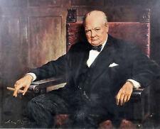 Handmade Oil Painting repro Portrait of Sir Winston Churchill