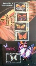 154.GUYANA 2006 STAMP S/S + M/S BUTTERFLY OF SOUTH AMERICA . MNH