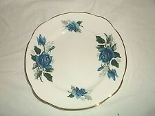 Duchess Bone China England Blue Rose Luncheon Salad Plate 7 7/8""