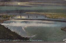 Great Falls, MT - Moonlight at Rainbow Falls