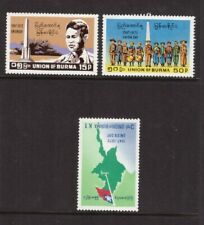 Burma MNH 1972 Independence Anniv set mint stamps
