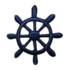 ID 2364C Ship Captain Steering Wheel Patch Boat Embroidered Iron On Applique