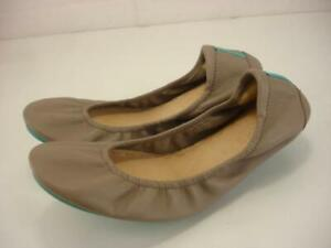 Women's 9 M Tieks by Gavrieli Taupe Tan Leather Ballet Flat Shoes Loafer Slip-On