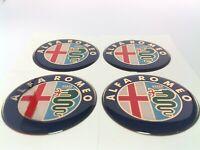ALFA ROMEO 4 x 60mm Silikon Emblem Felgen Aufkleber Logo Nabendeckel Nabenkappen