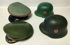 4 x Vintage Action Man Style Helmets & Hats German & Soviet