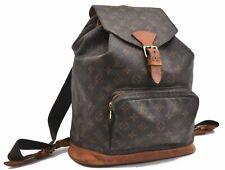 Authentic Louis Vuitton Monogram Montsouris GM Backpack M51135 LV A5360